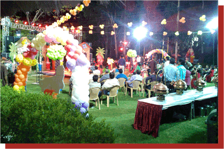 kanchan kesari village resort jaipur birthday party multi colour balloon decoration