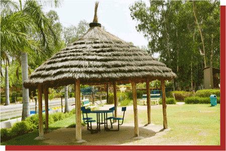 kanchan kesari village resort jaipur birthday party hut